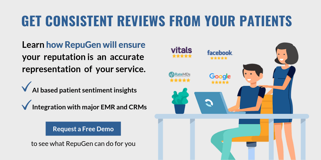 Get consistent reviews from your patients