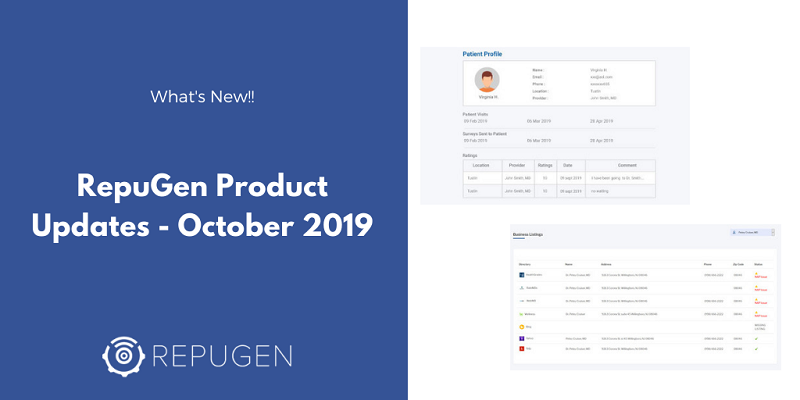 RepuGen Product Updates - Patient Profiles and Listing Consistency