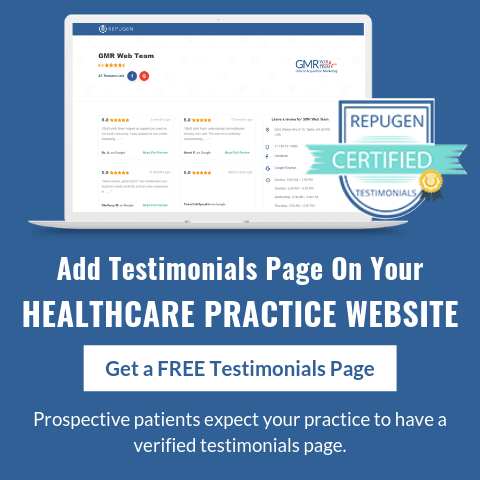 Add Testimonials Page On Your Healthcare Practice Website
