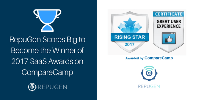 RepuGen Scores Big to Become the Winner of 2017 SaaS Awards on CompareCamp