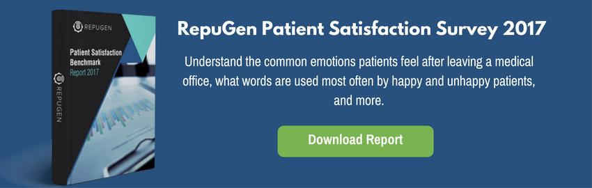 RepuGen Patient Satisfaction Benchmark Survey 2017