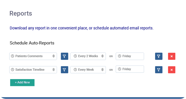 Schedule automated satisfaction reports for upcoming appointments